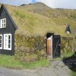 Turf-roofed house