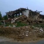 Wrecked house